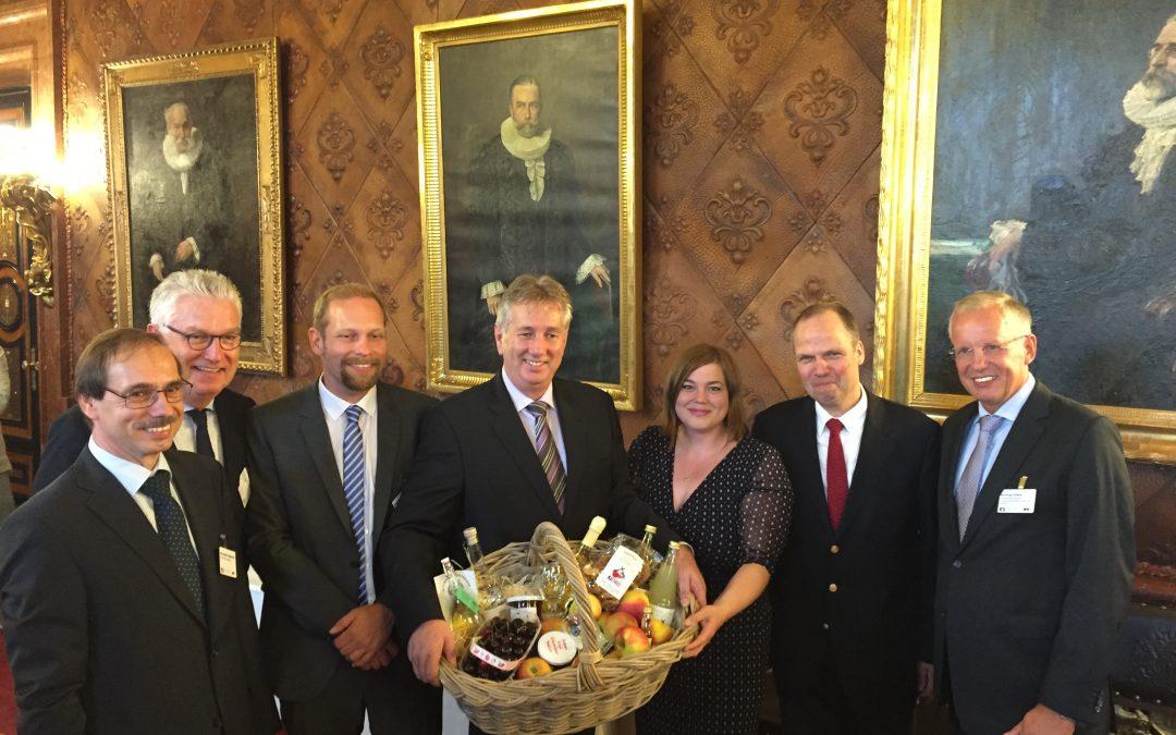 Senatsempfang in Hamburg war Auftakt von Prognosfruit 2016