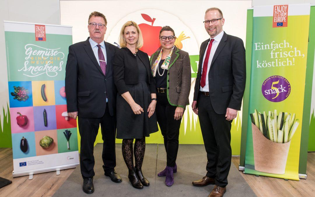 Fruit Logistica 2020 in Berlin: EU geförderte Obst- und Gemüsekampagnen starten durch